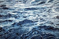 ©2008 Jan Aronson While Rome Burns Water #10 Oil on Canvas 28x42small