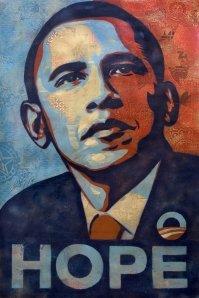 Obama portrait by Shepard Fairey