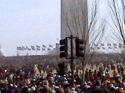 Washington Monument crowds