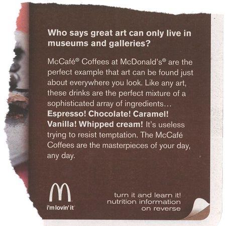 McD McCafe text
